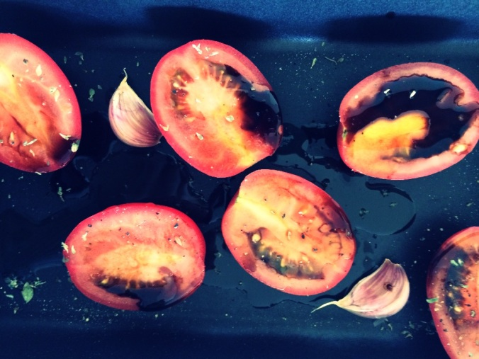 Oliveoil and balsamaic tomatoes