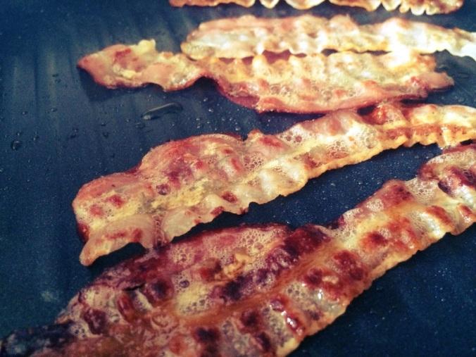 sizzling pancetta