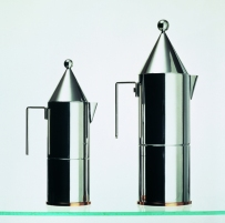"""Officina Alessi """"La Conica"""" Espresso coffee maker designed by Aldo Rossi"""